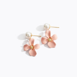 Matte Flower Clip Earrings