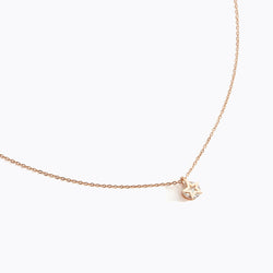 Clear CZ Star Charm Necklace