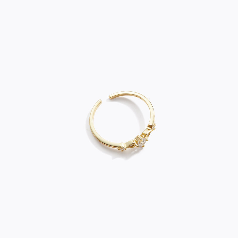 Row Clear CZ Ring