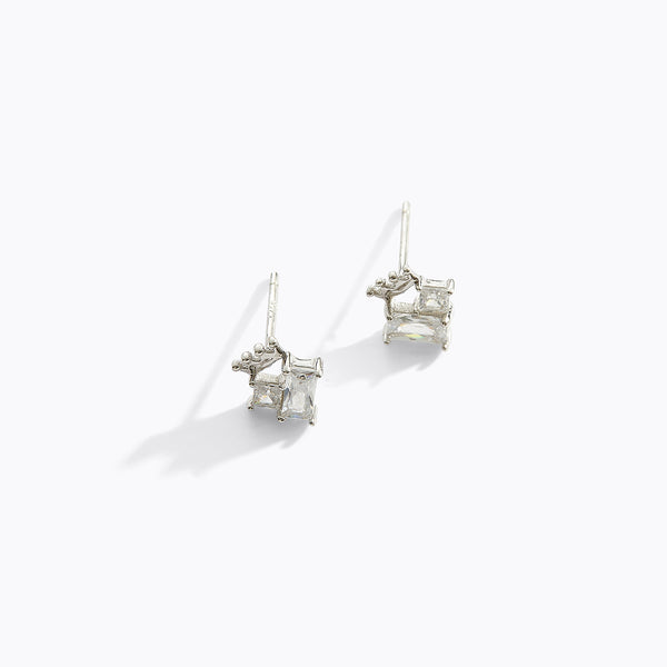 Crown and CZ Earrings