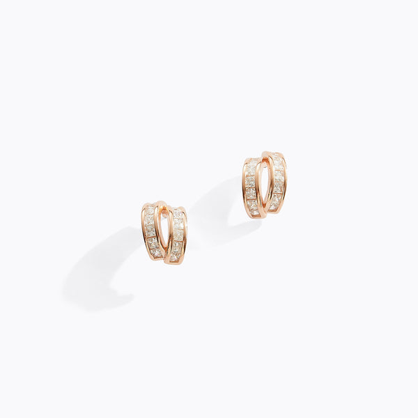 Clear CZ Double Cuff Earrings