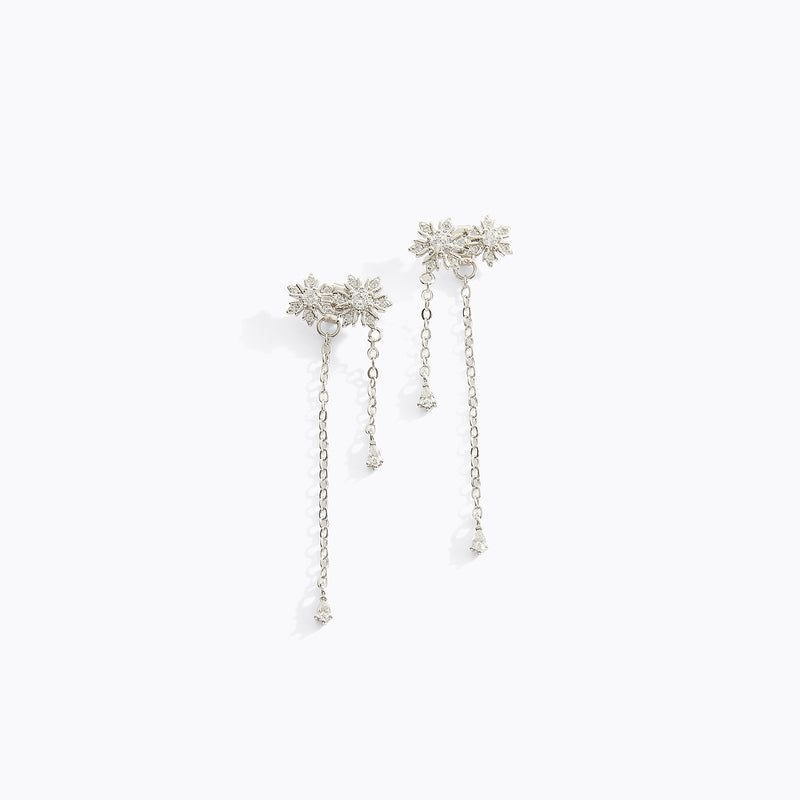 Snowflake Fringe Earrings