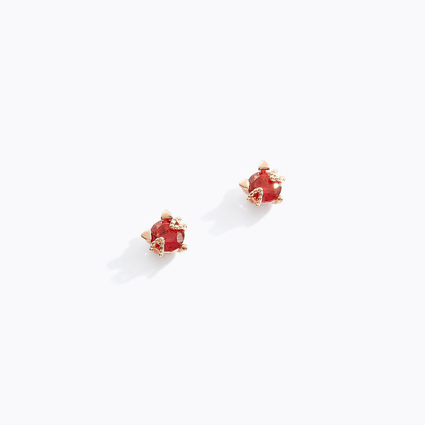 Ruby Kitty Stud Earrings