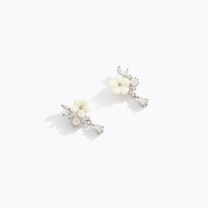 Sakura Water Drop Earrings