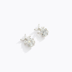 Leaflet CZ Drop Earrings