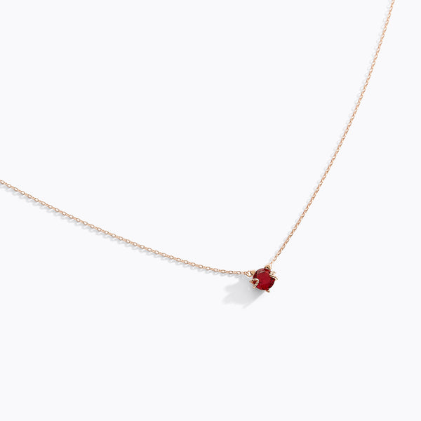 Ruby Kitty Necklace