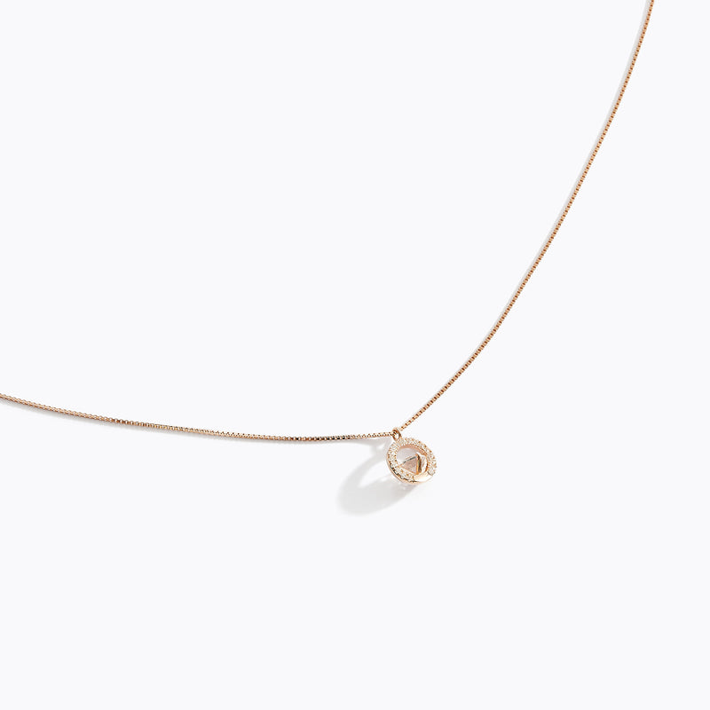 Circle CZ Pendant Necklace