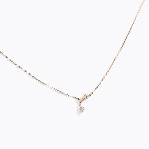 CZ Olive Branch Necklace