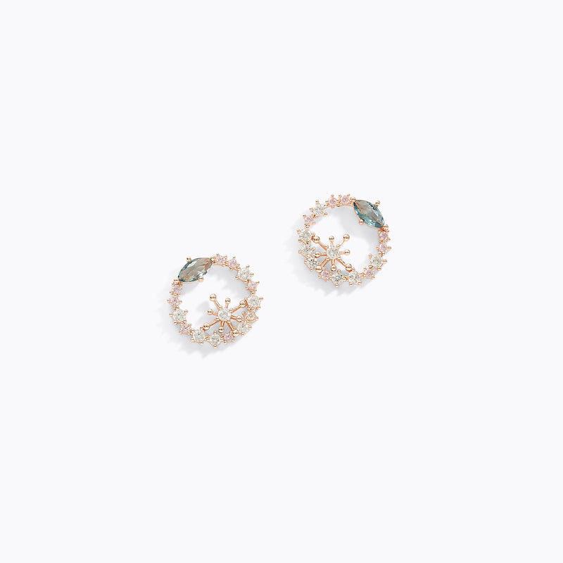 Garland CZ Earrings