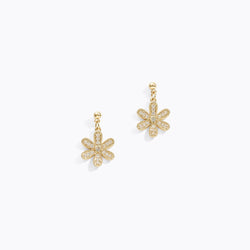 Gold-Tone Daisy Drop Earrings