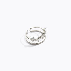 CZ Double Layered Water Drop Ring