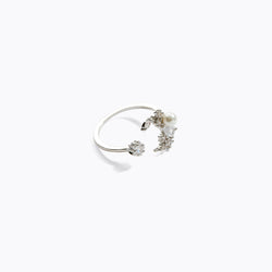 CZ Pearl Moon Gem Ring