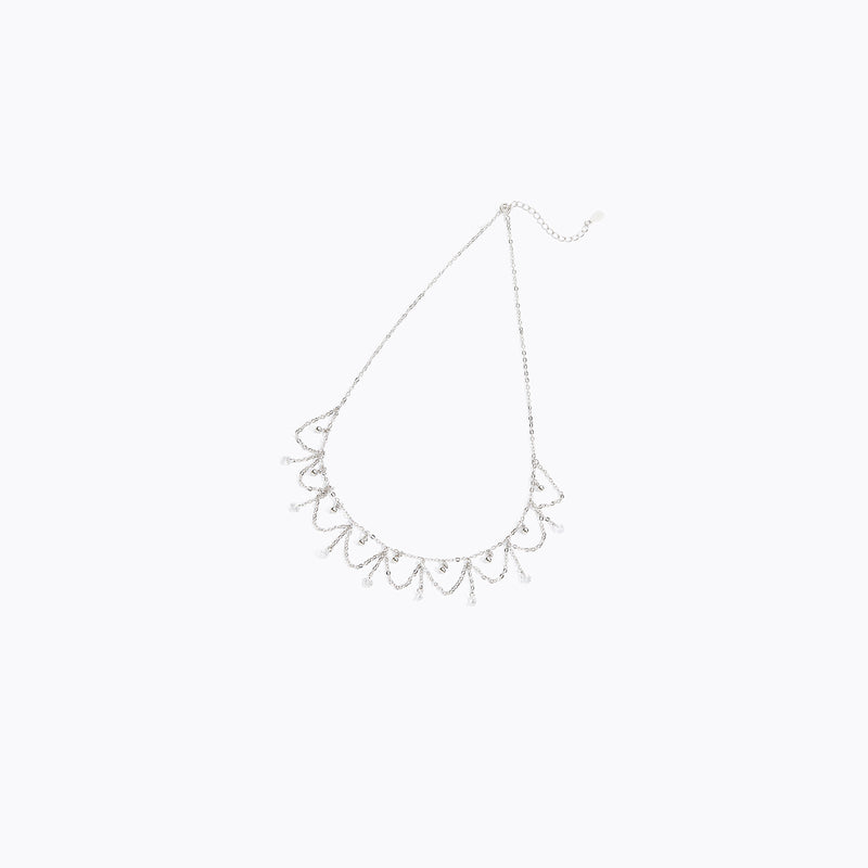 CZ Choker Drop Necklace