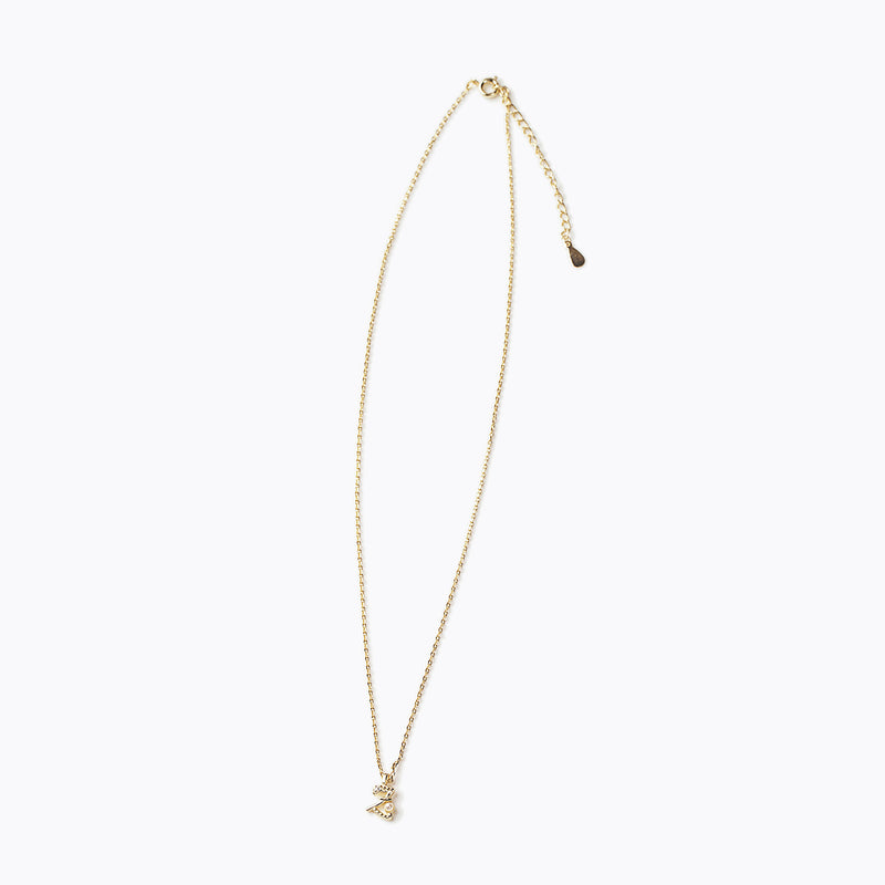 Gold-Tone Letter Charm Necklace - Z