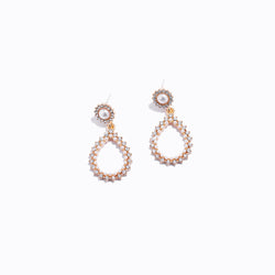 Clear CZ Water Drop Earrings