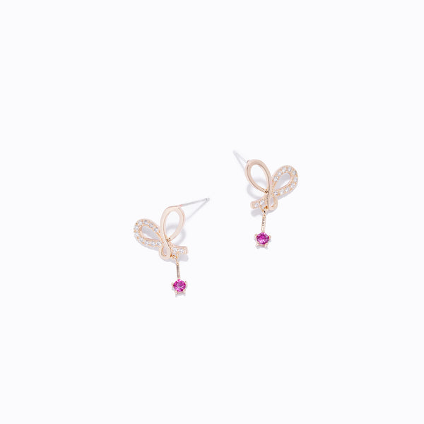 Clear CZ Butterfly Earrings