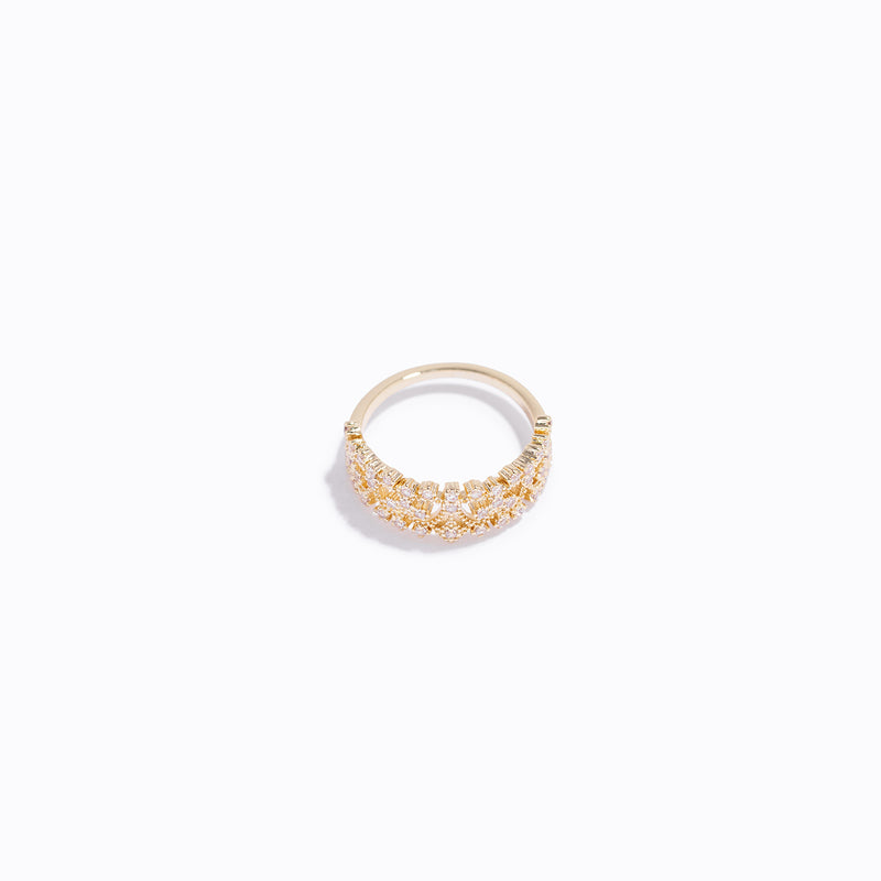 Gold-tone Crown Ring