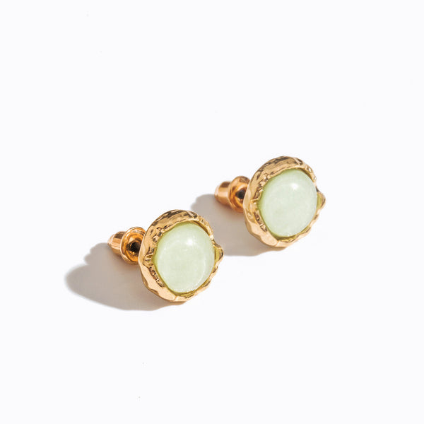 Round-cut Gemstone Stud Earrings