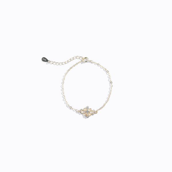 Gold-tone Floral Hollow Bracelet