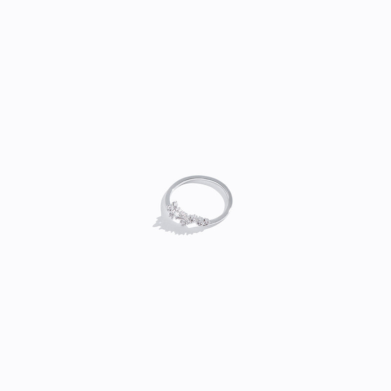 Clear CZ Floral Ring