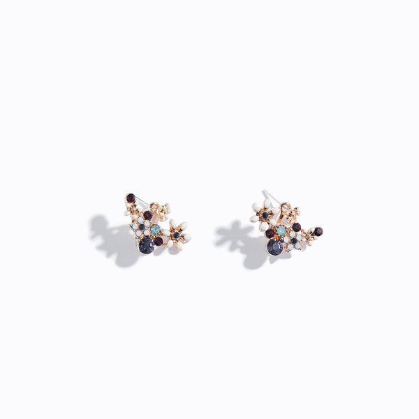 Floral Curve Bar Earrings