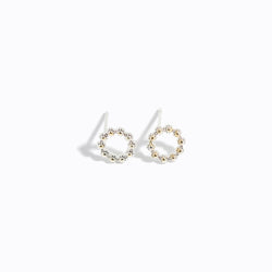 Silver-tone Mini Chrome Stud Earrings