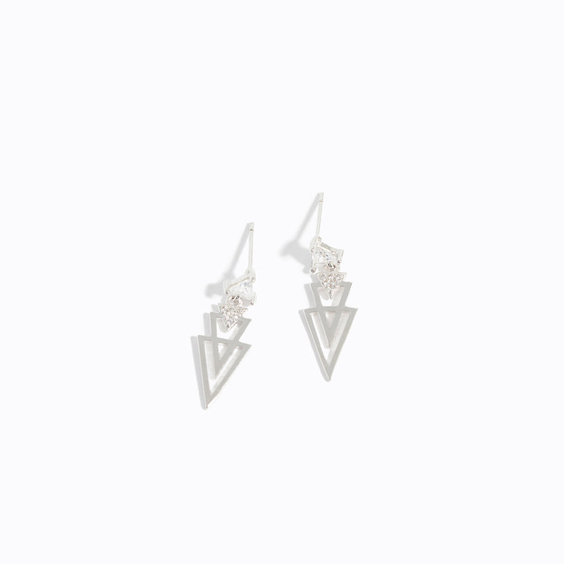 Multi-triangle Drop Earrings