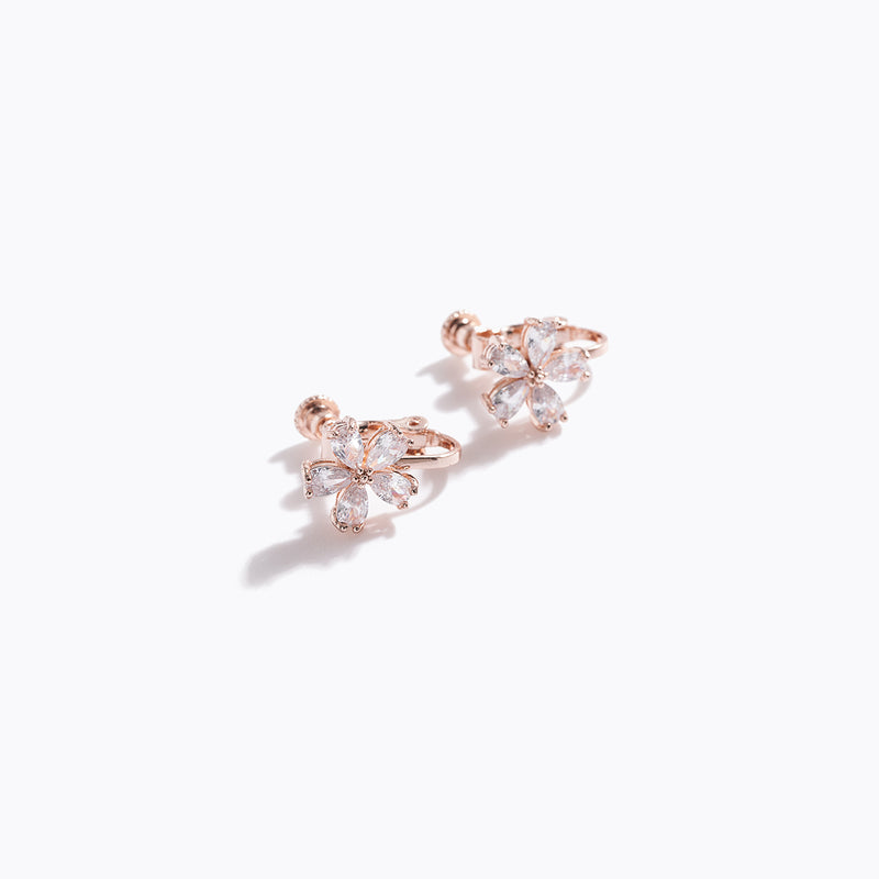 Clear CZ Flower Ear Cuff