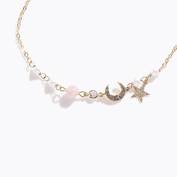 Gold-tone Star & Moon Bracelet