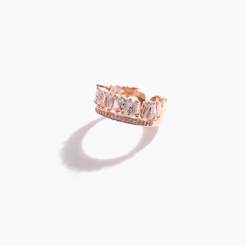 Clear CZ Double-Layer Ring