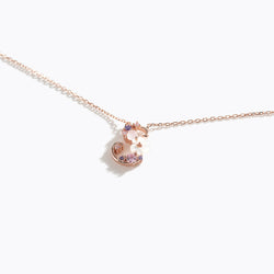 Clear CZ Floral Letter Necklace - S