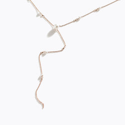 Pearl Long Drop Necklace