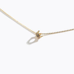 Gold-Tone & Clear CZ Crown Necklace