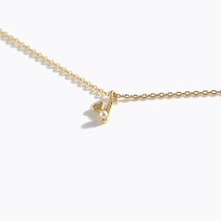 Gold-Tone Letter Charm Necklace - Y