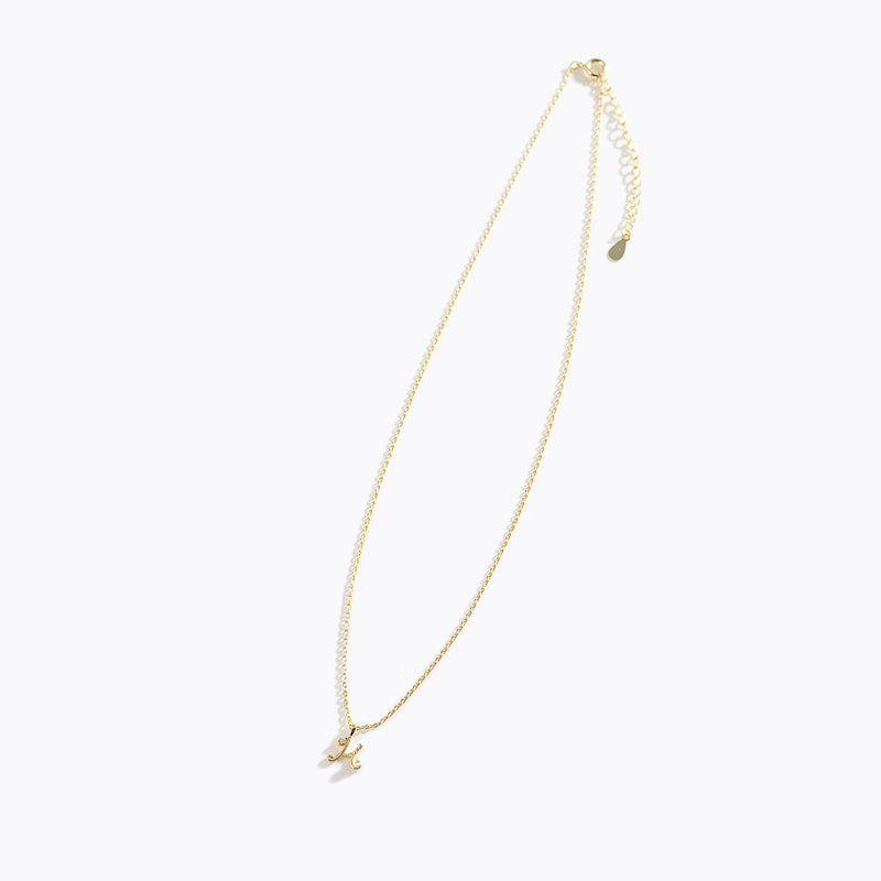 Gold-Tone Letter Charm Necklace - H
