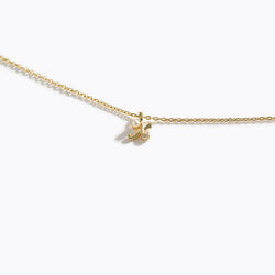 Gold-Tone Letter Charm Necklace - X