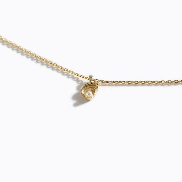 Gold-Tone Letter Charm Necklace - G