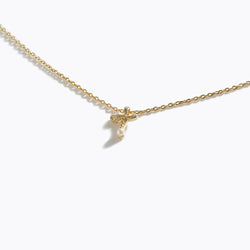 Gold-Tone Letter Charm Necklace - T
