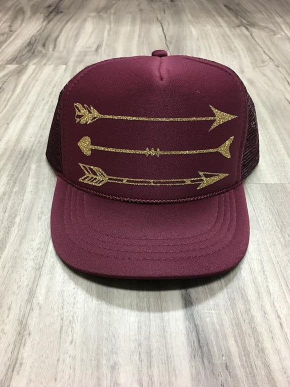 Glitter Arrow Trucker Hat