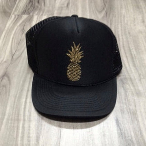 Pineapple Glitter Trucker Hat