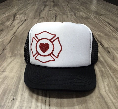 Fire Wife Maltese Heart Trucker Hat