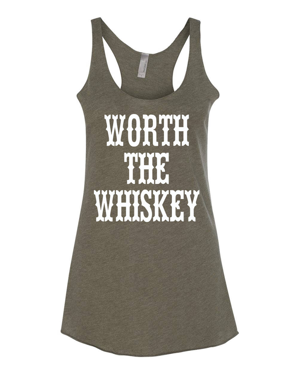 Worth The Whiskey Country Tank Womens Tank Raw Edge