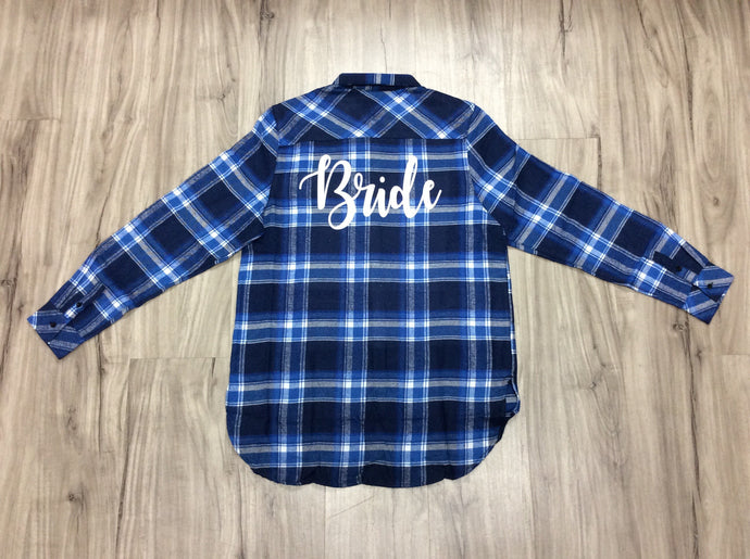 Bridal Flannels Personalize Flannel Buffalo Plaid