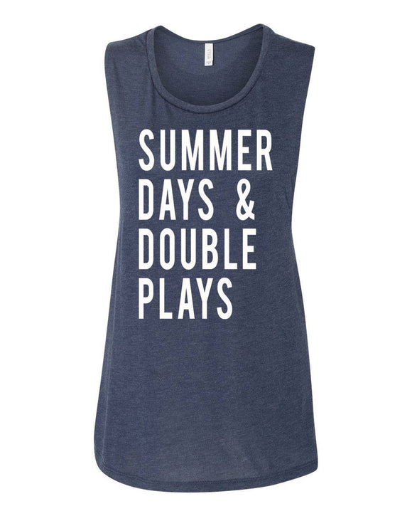 Summer Days And Double Plays Muscle Tank