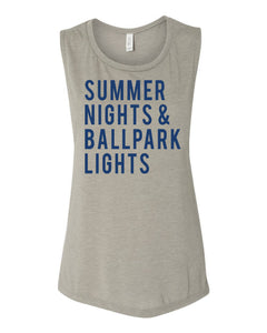 Summer Nights And Ballpark Lights Muscle Tank