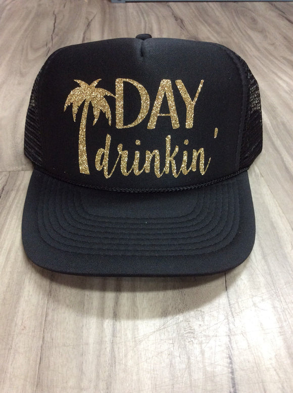 Day Drinkin' Palm Tree Trucker Hat
