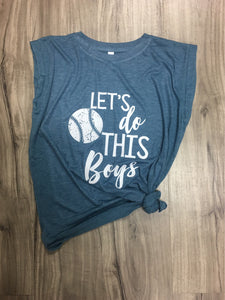 Let's Do This Boys Baseball Muscle Tank