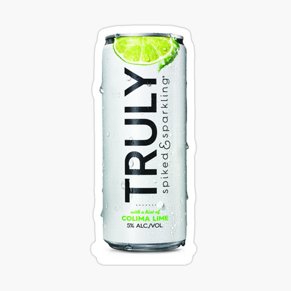 Truly Lime Hard Seltzer Decal