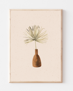 Palm Spear Wall Print | Terracotta & Pink