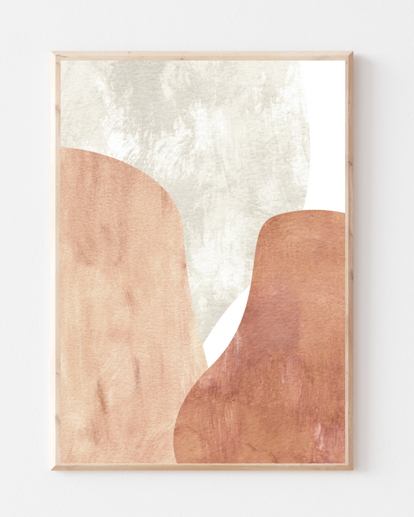 Terracotta & Peach Wall Print | Abstract